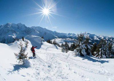 Le mont Prarion en hiver
