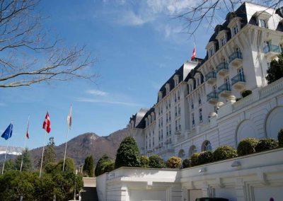 Façade côté Avenue d'Albigny du Casino Impérial à Annecy