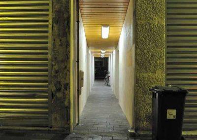 Un passage rue Filaterie de nuit à Annecy