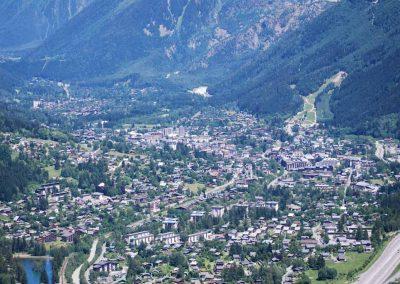 Vue aérienne de Chamonix