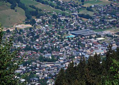 Vue aérienne de Megève