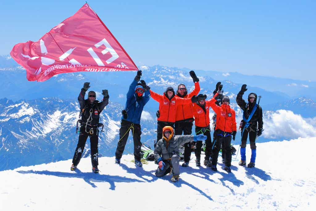 Reportage photo au sommet du Mont-Blanc pour ELA avec Zinedine Zidane