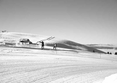 Ski de fond au sommet du Semnoz