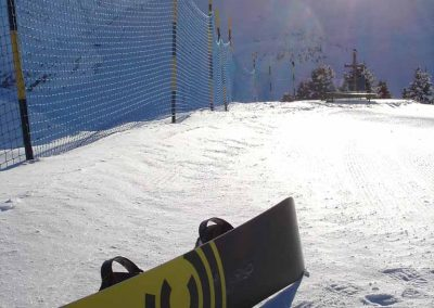 Snowboard Burton Custom 164 au Mont Joux