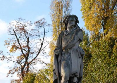 Statue dans le parc du château de Saint-Germain-en-Laye