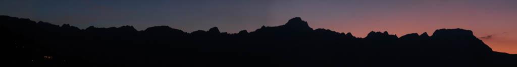 Coucher de soleil sur la chaîne des Aravis