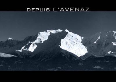 Le Mont-Blanc depuis l'Avenaz à Saint Gervais les Bains
