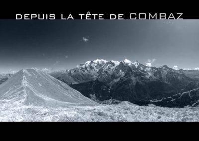 Le Mont-Blanc depuis la tête de Combaz aux Contamines Montjoie