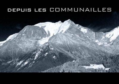 Le Mont-Blanc depuis les Communailles à Saint Gervais les Bains