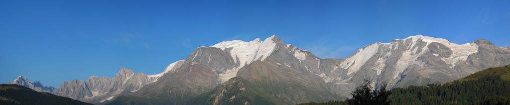 Le Mont-Blanc en été