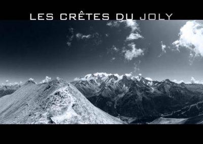 Les crêtes du Mont Joly face au massif du Mont-Blanc