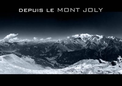 Le massif du Mont-Blanc depuis le Mont Joly à Saint Gervais les Bains