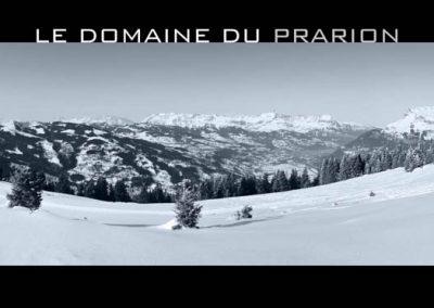 Le domaine du Prarion en noir et blanc