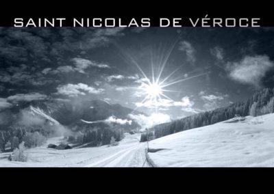 La piste de fond de Saint-Nicolas de Véroce