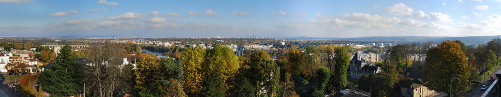 Vue depuis la Terrasse de Saint-Germain-en-Laye