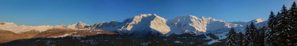Coucher de soleil sur la chaîne du Mont-Blanc