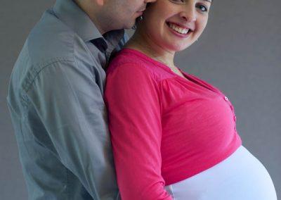Portrait d'un couple, femme enceinte
