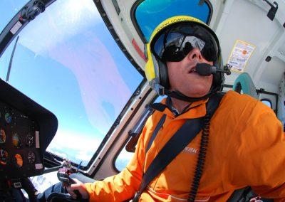 Portrait d'un pilote d'hélicoptère
