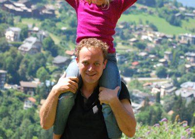 Portrait d'un père et sa fille