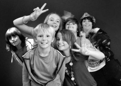 Portrait d'une bande de jeunes